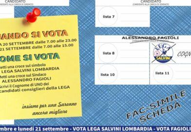 Appello al voto per Alessandro Fagioli e la Lega